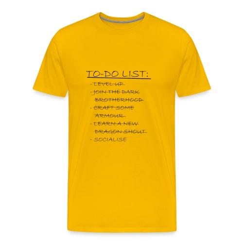 To Do List - Men's Premium T-Shirt