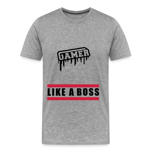 GAMER LIKE A BOSS! - Men's Premium T-Shirt