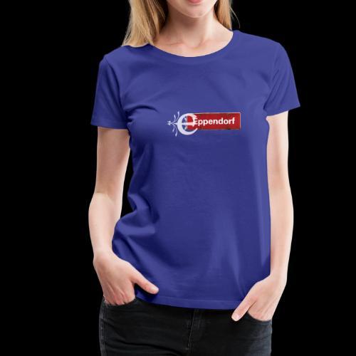Hamburg-Eppendorf Ortsschild rot mit Schmuckbuchstaben - Frauen Premium T-Shirt