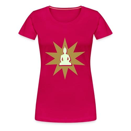 Buddha tshirt gold phospho - T-shirt Premium Femme
