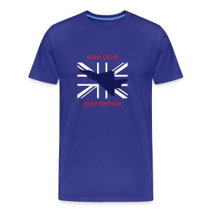 Keep Calm Keep British Typhoon and Union Flag - Men's Premium T-Shirt
