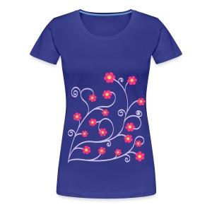 geringelte Blümlis - Frauen Premium T-Shirt