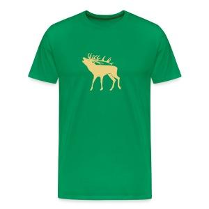 tiershirt t-shirt hirsch röhrender brunft geweih elch stag antler jäger junggesellenabschied förster jagd - Männer Premium T-Shirt