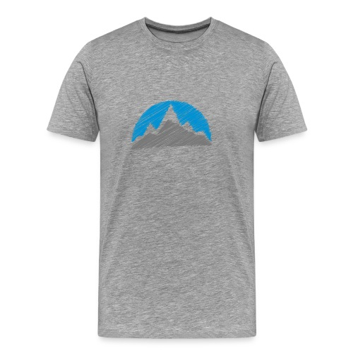 Scribble Mountain - Men's Premium T-Shirt