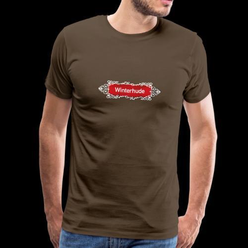 Männer T-Shirt: Winterhude-Ortsschild mit Tattoo-Ornament - Männer Premium T-Shirt
