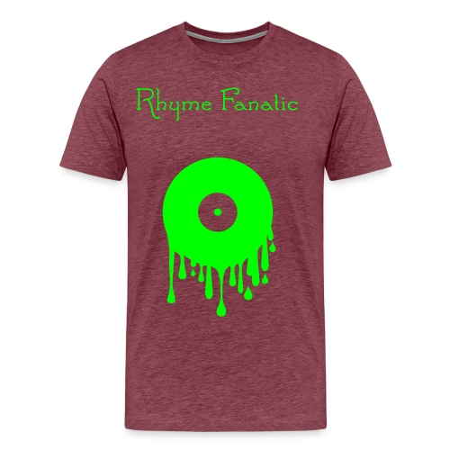 RhymeFanatic-Vinyl-Purple-Green - Männer Premium T-Shirt