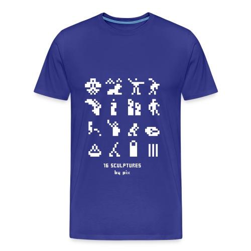 T-shirt-jeu 16·sculptures - T-shirt Premium Homme