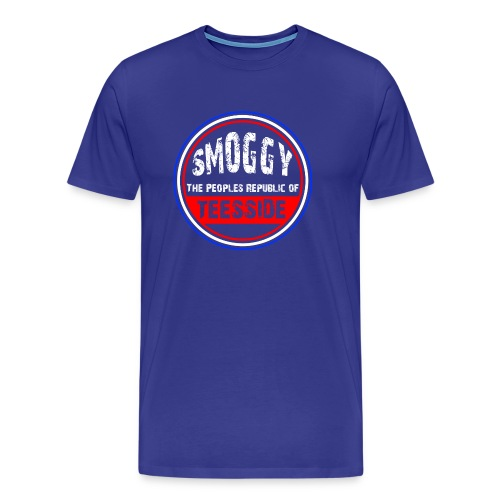 Smoggy PRT - 'Diva Blue' - Men's Premium T-Shirt