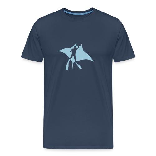 tier t-shirt manta ray rochen taucher tauchen scuba diving dive - Männer Premium T-Shirt