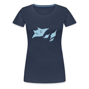 tier t-shirt manta ray rochen taucher tauchen scuba diving dive - Frauen Premium T-Shirt