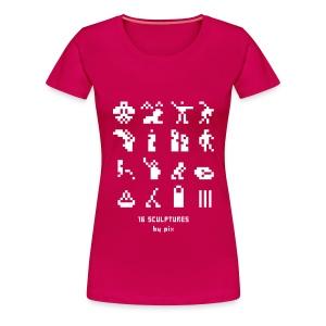 T-shirt-jeu 16·sculptures - T-shirt Premium Femme