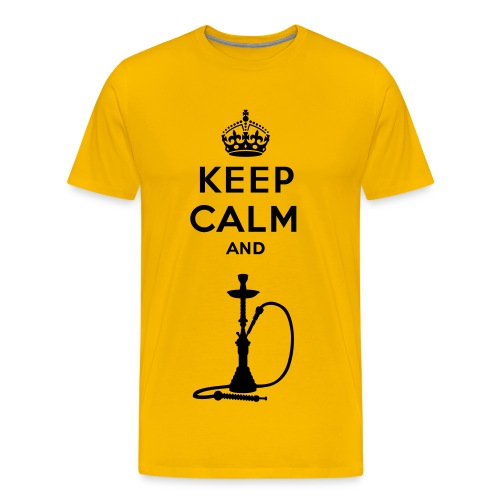 Keep Calm and Shisha - Men's Premium T-Shirt