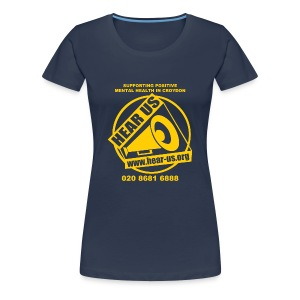 Hear Us Logo and Slogan T-Shirt - Women's Premium T-Shirt