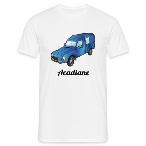 T-shirt homme Acadiane bleu - T-shirt Homme