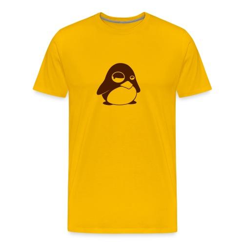 T-shirt Tux Gul - Premium-T-shirt herr