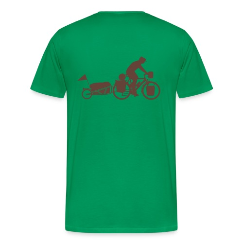 Radreisender mit Anhänger T-Shirt - Männer Premium T-Shirt