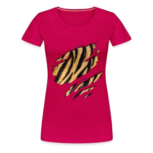 Tiger Shirt RobijnRed - Vrouwen Premium T-shirt