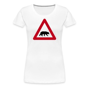 Beware of the bear - Women's Premium T-Shirt