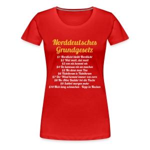 Lady Norddeutsches Grundgesetz - Frauen Premium T-Shirt