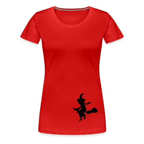 Frauen Premium T-Shirt - T-Shirt,Spassartikel,Hut,Hexe,Geschenkidee,Geschenk,Damen,Besen