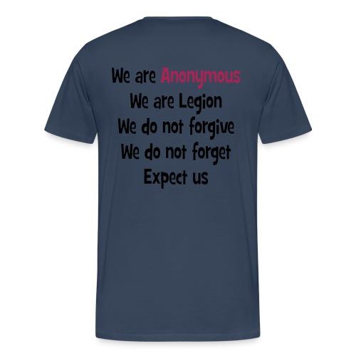 T-Shirt slogan Anonymous - T-shirt Premium Homme