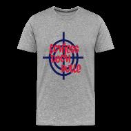 T-Shirts ~ Männer Premium T-Shirt ~ Grau meliert schiesss_doch_bulle T-Shirts