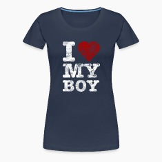 """I Love my BOY"" vintage light T-Shirts"