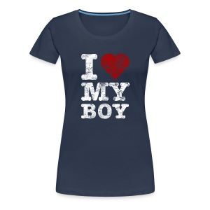I Love my BOY vintage light T-Shirts - Women's Premium T-Shirt