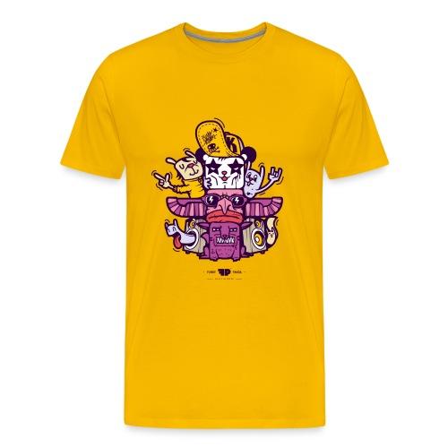 The Funky Panda Totem T-shirt for Men - Men's Premium T-Shirt