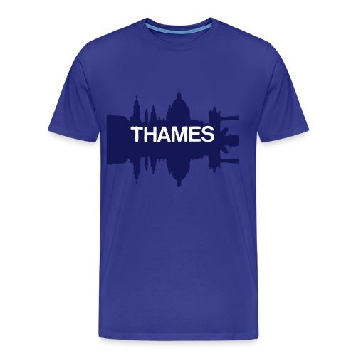 Retro London Skyline Thames T-shirt - Men's Premium T-Shirt