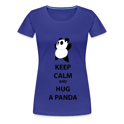 T-shirt woman Keep calm and hug a panda-Maglietta donna keep calm and hug a panda - Maglietta Premium da donna