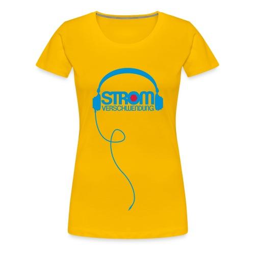 Kopfhörer Stromverschwendung /Frau - Frauen Premium T-Shirt
