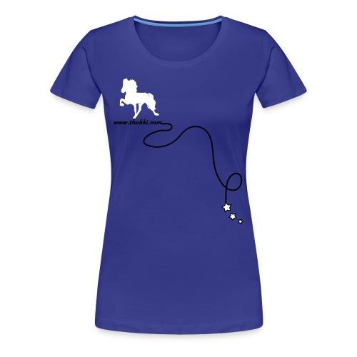 DamenshirtRock'n'Tölt 2F divablue - Frauen Premium T-Shirt