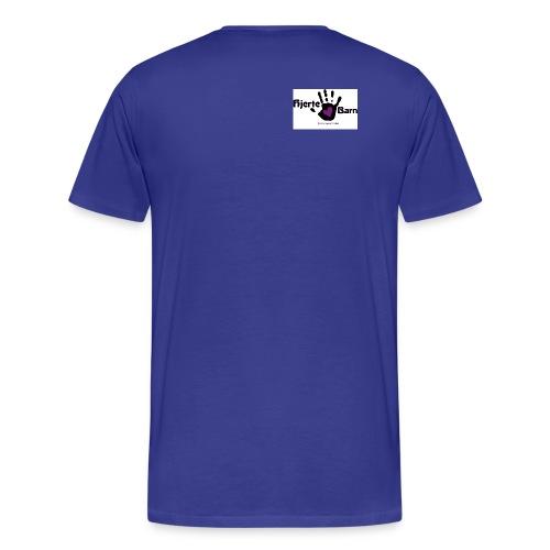Herre tshirt lille logo skulder - Herre premium T-shirt