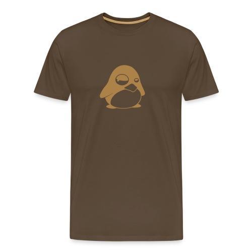 Tux Brun - Premium-T-shirt herr