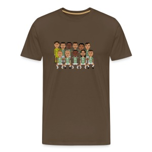 Men T-Shirt - green and white boys squad - Men's Premium T-Shirt