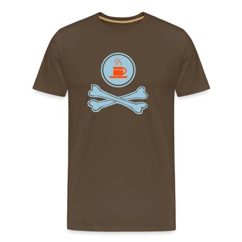 coffe till skull - Männer Premium T-Shirt