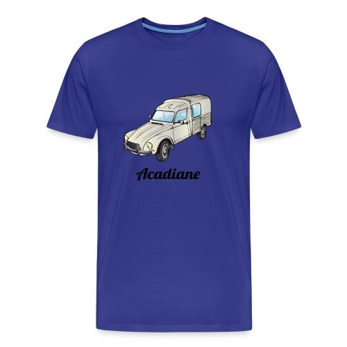 T-shirt homme Acadiane blanche  - T-shirt Premium Homme