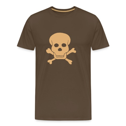 London Underground Skull & Crossbones- Brown - Men's Premium T-Shirt