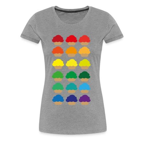 Rainbowcupcakes - Frauen Premium T-Shirt