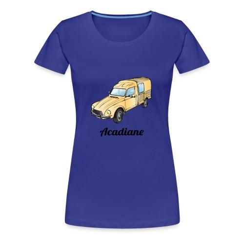 T-shirt femme Acadiane beige - T-shirt Premium Femme