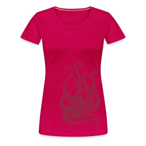 tier t-shirt oktopus krake tintenfisch tauchen taucher meer octopus scuba - Frauen Premium T-Shirt