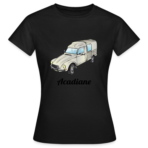 T-shirt femme Acadiane blanche - T-shirt Femme