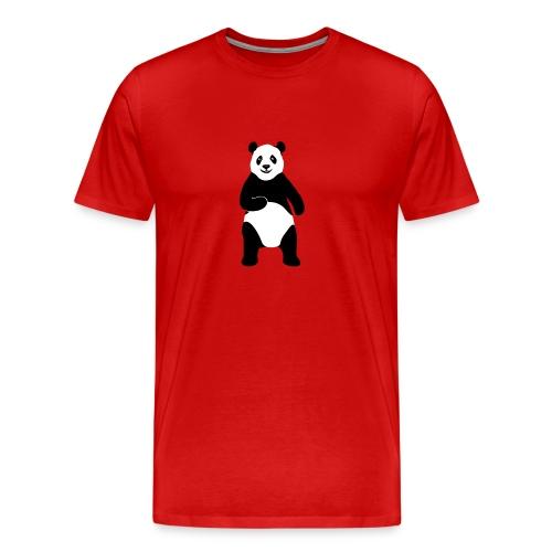 tier t-shirt panda teddy bär bärchen süß niedlich gesicht - Männer Premium T-Shirt