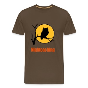 Nightcaching Owl 3 - Männer Premium T-Shirt