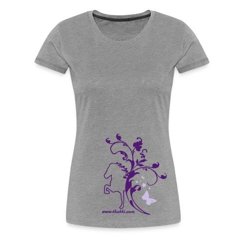 Damenshirt Butterfly 2F grau - Frauen Premium T-Shirt