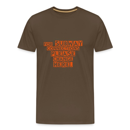 SUBWAY CONNECTIONS  - Männer Premium T-Shirt