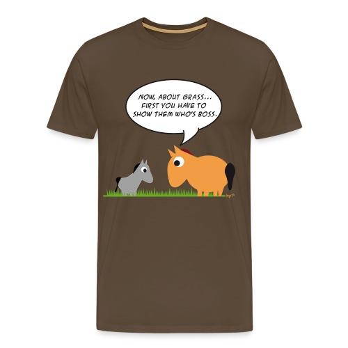 Oscar heren tshirt - show them who's boss - Mannen Premium T-shirt