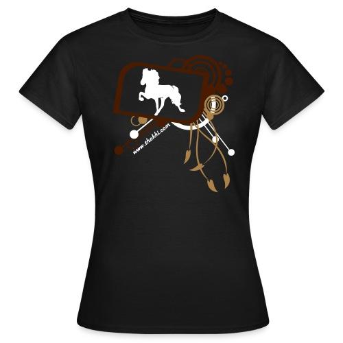 Damenshirt Töltaholic braun - Frauen T-Shirt