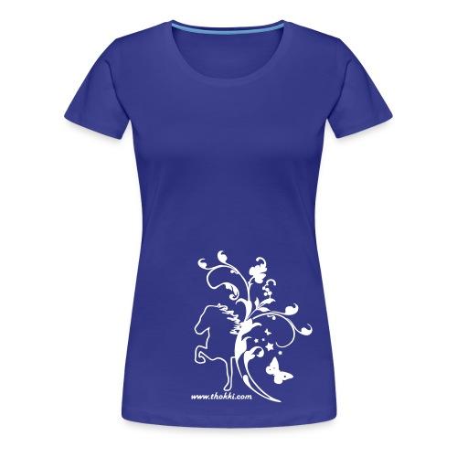 Damenshirt Butterfly 1F divablue - Frauen Premium T-Shirt